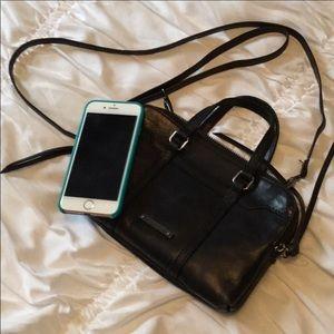 Joes Leather Crossbody Mini Top Handle Bag